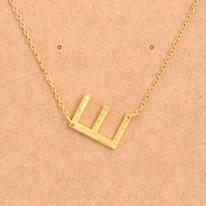 "Jewelry - Letter ""E"" Dainty Gold Initial Necklace"